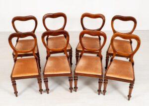Set Victorian Dining Chairs - Antiker Ballon zurück 1880