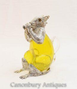 Silberplatte Eichhörnchen Dekanter - Glaskanne