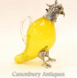 Silberplatte Vogel Dekanter Glaskrug Sheffield
