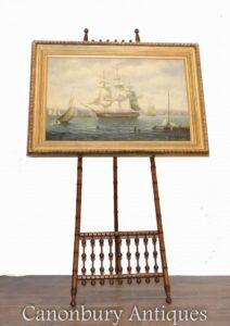 Amerikanische Ölgemälde Clipper Maritime Seestück Boston Art