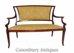 Antike Edwardian Sofa - Mahagoni Couch Seat 1900