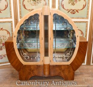 Art Deco Vitrine - Walnuss Vintage 1920