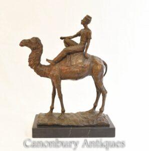 Bronze Beduinen Kamel Reiter Statue - Französisch Casting