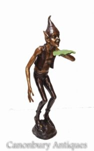 Bronze Garden Pixie - Elf Fairy Celtic Goblin Statue