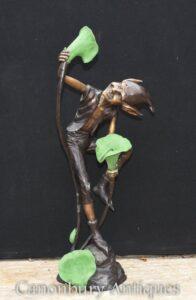Bronze Goblin Brunnen - Pixie Fairey Statue Garten Casting