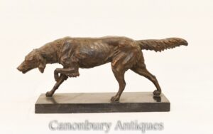 Bronze Red Setter Dog Statue - Französische Tiergussteile