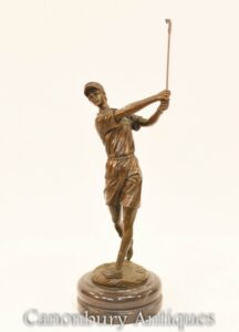 Bronze Scottish Golfer Statue - Golf Casting