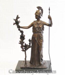 Bronzestatue Britannia - Römische Göttin Großbritannien