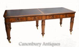 Doppelter antiker Partner-Schreibtisch - Gillows Mahagoni 1860