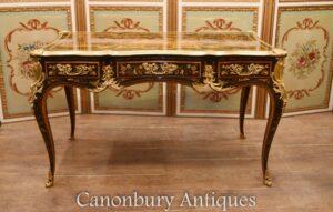 Empire Bureau Plat Desk - Französisches Intarsien-Inlay