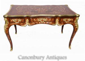 French Empire Bureau Plat Schreibtisch - Intarsien-Inlay-Schreibtisch