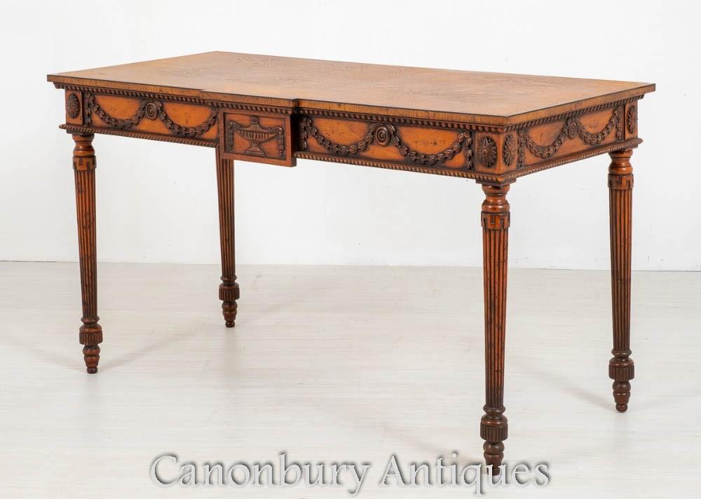 Hepplewhite Konsolentisch - Carved Oak Inlay Antique