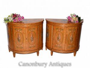 Paar Adams Seitenschränke in Satinwood - Painted Regency Interiors