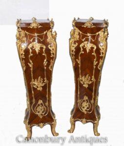 Paar vergoldete Sockelständer - Linke French Rococo Tische