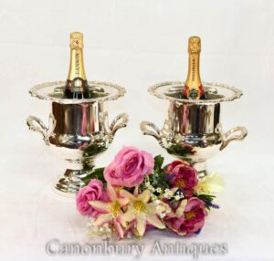 Silver Plate Champagner Eimer - Victorian Wine Cooler Bucket