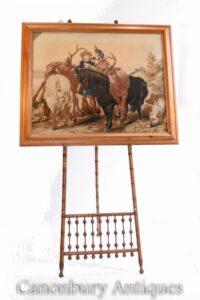 Victorian Needlepoint Tapisserie Hochland Hirschjagd Landseer