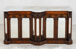Victorian Sideboard Cabinet - Antikes Server Buffet 1860