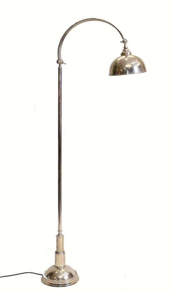 Art Deco Stehlampe Silver Plate Light