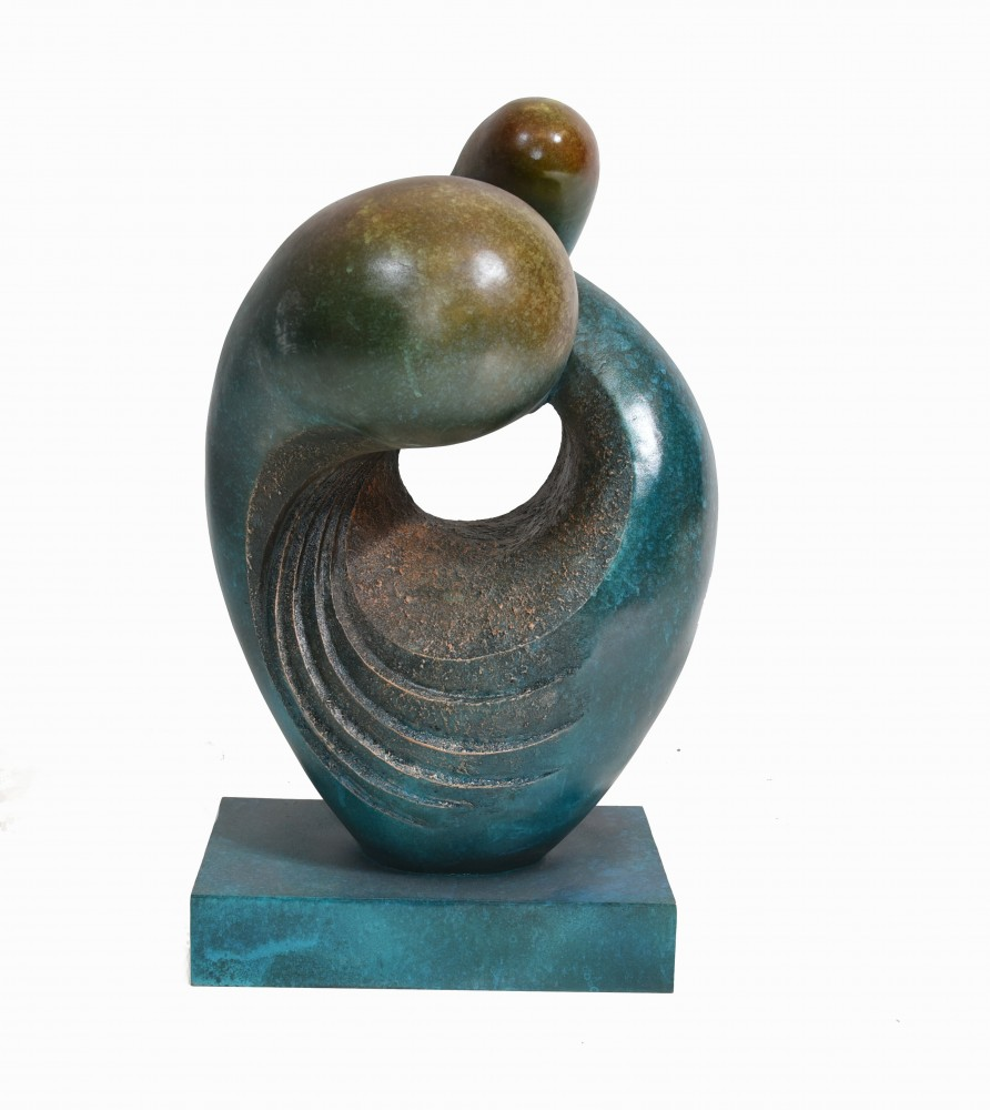 Bronze abstrakte Kunstskulptur modernistische Statue