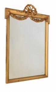 Französischer Jugendstil Spiegel Vergoldete Mantelspiegel