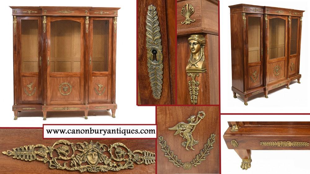 Französisches antikes Bücherregal Second Empire Bibliotheque Cabinet