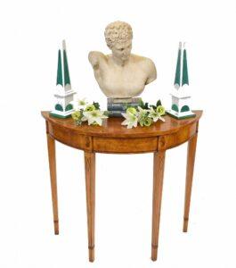 Hepplewhite Konsolentisch Walnuss Regency Hall Tables