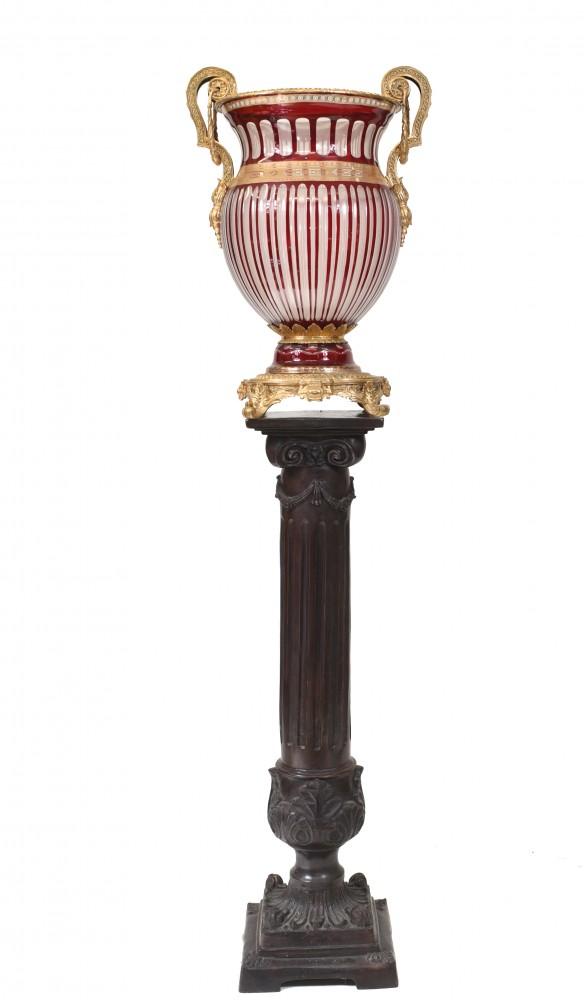 Paar Glasvasen Französisches Empire Klassische Urnen