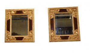 Paar Viktorianischer Spiegel Vergoldeter Glasrahmen