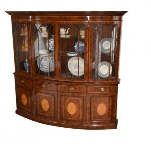 Regency Bücherregal  mit Schleife Mahagoni Inlay Kabinett