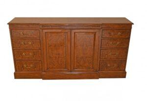 Regency Sideboard Breakfront Cabinet Server Walnuss